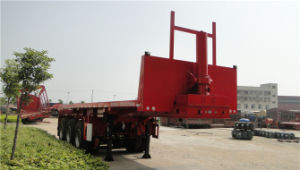 9m Front Hydraulic Lifting/Self Dumping Flatbed Semi-Trailer