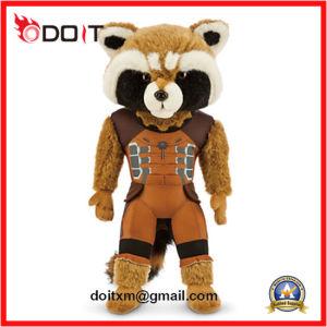 Children Kids Soft Standing Rocket Raccoon Stuffed Plush Toy Tiger pictures & photos