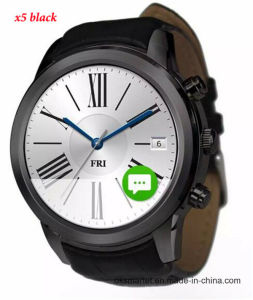 1.4 Inch Round Android Smart Watch X5 Android 4.4 Sport Men Wristwatch SIM Card Anti--Lost WCDMA WiFi Bluetooth 4.0 pictures & photos