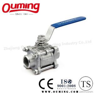 3PC Stainless Steel Butt Welding Ball Valve with Handle pictures & photos