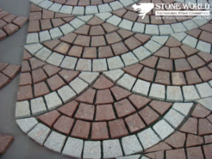 Cheap Price Granite Cube Stone Natural Stone Paver on Mesh pictures & photos