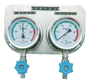 Pressure Gauge Combined Panel with Vibration-Proof Device