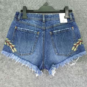 Sp17 & Summer 2017 Fashion Lady′s Embroidery Short Denim Jean Shorts pictures & photos