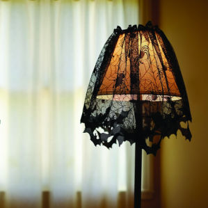 100% Polyester Lace Web Lampshade Topper (PM252) pictures & photos