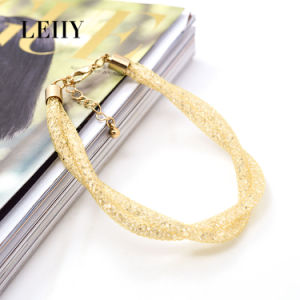 Hot Fashion Mesh Crystal Choker Necklace Bracelet Jewelry Gold Choker Designs pictures & photos