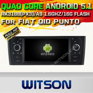 Witson Android 5.1 Car DVD GPS for FIAT Oid Punto with Chipset 1080P 16g ROM WiFi 3G Internet DVR Support (A5535) pictures & photos