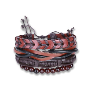 Wholesale Handmade Braided Bead Leather Bracelet pictures & photos