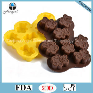 Wholesale Bear Shape Silicone Mould for Chocolate Baking Tool Si23