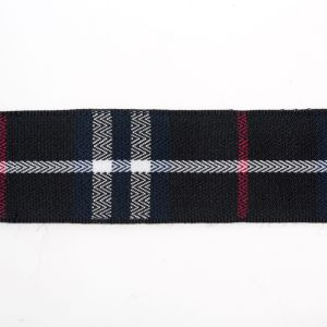 Black Check Ribbon for Garments and Bags pictures & photos