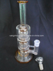 AAA 003 New Cross-Crystal Recycler Hookah Glass Pipe Smoking pipe