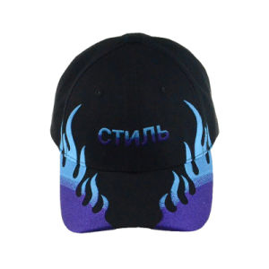 Design Racing Caps 3D Embroidery Navy Cotton Twill Baseball Cap pictures & photos