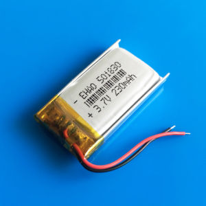 3.7V 230mAh 501830 Lithium Polymer Lipo Rechargeable Li Ion Battery for DIY MP3 MP4 MP5 GPS PSP Bluetooth Headphone Headset Toys pictures & photos