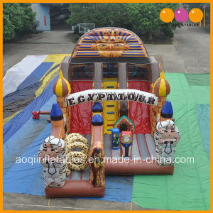 Hot Selling Kindergarten Inflatable Egypt Tour Slide Obstacle (AQ01687) pictures & photos