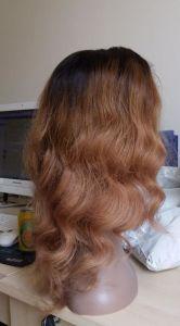 European Human Hair Natural Wave Virgin Color Silk Top Wig pictures & photos