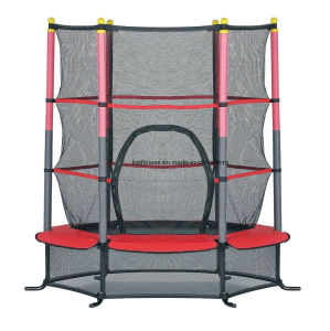 """Exercise 55"""" Round Kids Youth Jumping Trampoline W/ Safety Pad Enclosure Combo pictures & photos"""