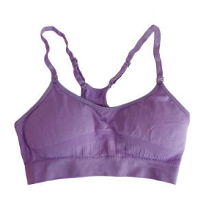 Girls Cheerleading Padded Sports Bra pictures & photos