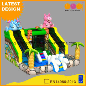 2017 New Product Home Yard Mini Safari Water Slide with Inflatable Pool for Summer (AQ01743) pictures & photos