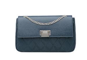Leather Metal Chain Ladies Shoulder Bag Qulited Handbag pictures & photos