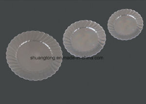 """Round Hard Plastic Silver Party Plate 9"""" pictures & photos"""