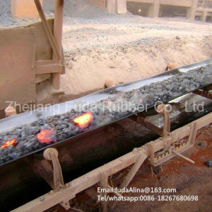 Canvas Heat Resistant Hr Conveyor Belt for Steel Plant pictures & photos