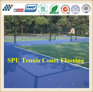 Comfortable and High Quality Spu Outdoor Tennis Court Flooring pictures & photos