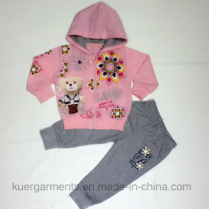 French Terry Gilr Sport Suits in Kids Clothes, Children Wear pictures & photos