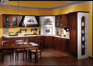 Home Furniture Customized Unfinished Solid Wood Kitchen Cabinets pictures & photos