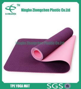 Eco-Friendly Double Textures TPE Yoga Mat pictures & photos
