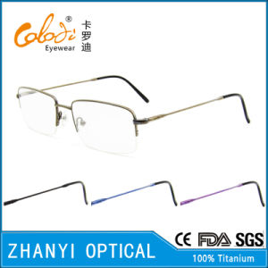 Latest Design Titanium Eyeglass Eyewear Optical Glasses Frame (8313)