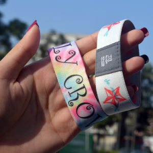 Special Design Custom Logo Athletic Elastic Wristbands pictures & photos
