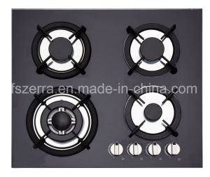 China Supplier Built-in Tempered Glass 4 Burner Gas Hob Stove Jzg54002 pictures & photos