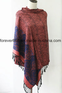 Hot Newest Fashion Jacquard Woven Scarf for Women Pashmina pictures & photos