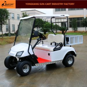 2 Seats Electric Transport Golf Cart with Rear Cargo Box pictures & photos