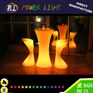 LED Lighted Plastic Bar Stool Chair pictures & photos