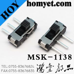 Right Angle 3pins DIP Type 1p2t Slide Switches (MSK-1138) pictures & photos