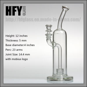 Hfy Glass New 13 Inches Mobius Water Smoking Pipe with Matrix Perc in 14.4mm Joint Size Bubbler Hookah Heady in Stock pictures & photos