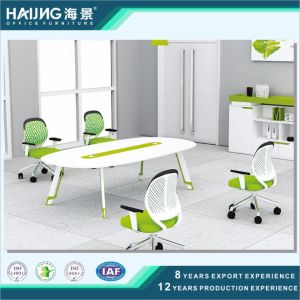 Office Conference Table with Glass and Steel Leg pictures & photos