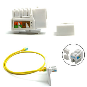 Rectangular UTP RJ45 Keystone Module CAT6 Keystone Jack with Fluke Test pictures & photos