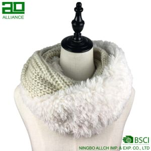 Shearling Winter Knitted Infinity Scarf pictures & photos