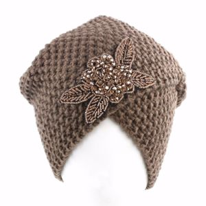 Women′s Braided Baggy Beanie Crochet Hat pictures & photos