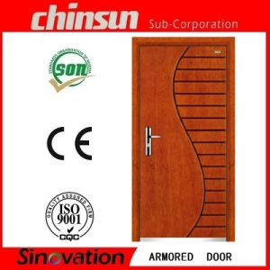 2017 Cheap Price Steel Wood Armored Door pictures & photos