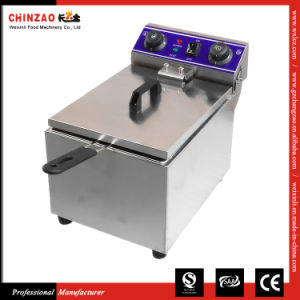 Single Commercial Countertop Electric Fryer Dzl-171b pictures & photos