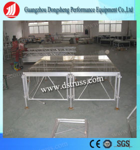 Portable Stage Assemble Stage Glass Stage 1.22m*2.44m for Event Show pictures & photos