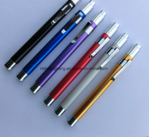 Medical Reusable Diagnostic Pen Light Doctors Penlight Stethoscope Penlight with Pupil Gauge pictures & photos