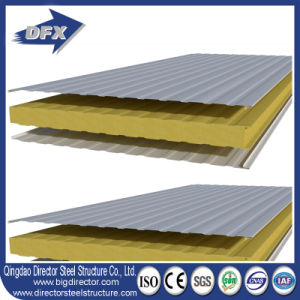 50mm/75mm/100mm EPS/Glasswool/Rockwool/PU Foam Sandwich Panel pictures & photos