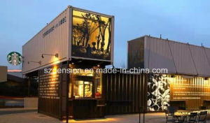 Low Price Customized Convenient Folding Mobile Prefabricated/Prefab House Coffee House pictures & photos