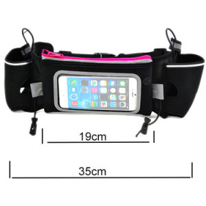 Hydration Running Belt Bag with PVC Window and Water Bottle pictures & photos