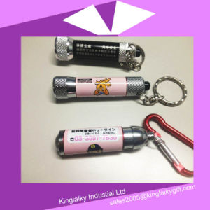 Promotional Gift LED Light Key Chain with Branding Logo (KLK-001) pictures & photos