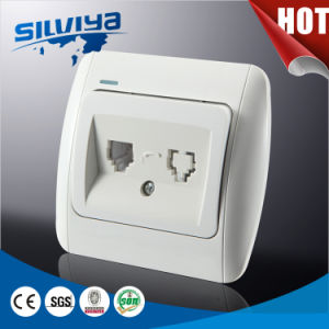 Modern Design Double Telephone Socket with Indicator pictures & photos