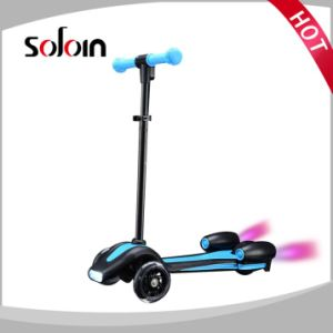 3 Wheel Tricycle Foot Toy Mini Kids Smart Electric Kick Scooter (SZKS009) pictures & photos